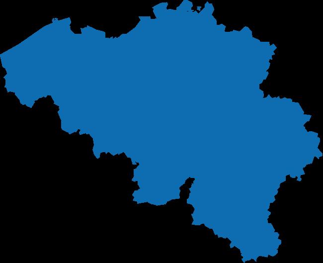 Map België